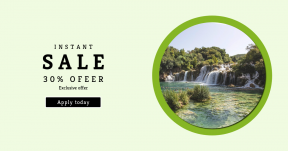 Card design template for sales - #banner #businnes #sales #CallToAction #salesbanner #scenery #recreation #reserve #chute #pond #stone #moss #mountain #filled