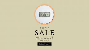 FullHD image template for sales - #banner #businnes #sales #CallToAction #salesbanner #green #dollar #credit #cashier #minimalism #bank #finance