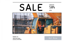 FullHD image template for sales - #banner #businnes #sales #CallToAction #salesbanner #cab #helmet #scaffold #scaffolding #engineer #digger #driver