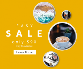 Square large web banner template for sales - #banner #businnes #sales #CallToAction #salesbanner #tide #traffic #coffee #header #succulent #web #business