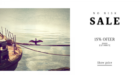 FullHD image template for sales - #banner #businnes #sales #CallToAction #salesbanner #water #seabird #pier #ship #sea #shipping #rope #animal