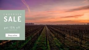 FullHD image template for sales - #banner #businnes #sales #CallToAction #salesbanner #orange #farming #vineyard #sunset #scenery