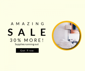 Square large web banner template for sales - #banner #businnes #sales #CallToAction #salesbanner #white #lifestyle #hotel #automation