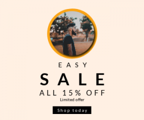 Square large web banner template for sales - #banner #businnes #sales #CallToAction #salesbanner #person #cut #relaxation #lady #black #grass #cheerful #clothing #freedom