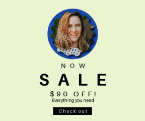 Square large web banner template for sales - #banner #businnes #sales #CallToAction #salesbanner #bokeh #jungle #face #swirly #beauty #lady #rectangles