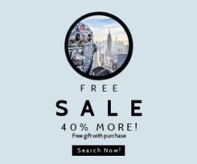 Square large web banner template for sales - #banner #businnes #sales #CallToAction #salesbanner #state #circle #shapes #building #empire #york #skyscraper #lookout