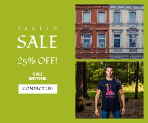 Square large web banner template for sales - #banner #businnes #sales #CallToAction #salesbanner #men's #t-shirt #facade #spartum #frame-king #brand #wear