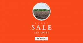 Card design template for sales - #banner #businnes #sales #CallToAction #salesbanner #agriculture #soil #farm #asphalt #rural #sky #grass