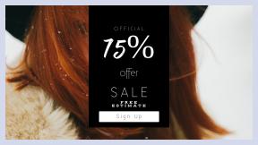 FullHD image template for sales - #banner #businnes #sales #CallToAction #salesbanner #readhead #caucasian #card #female #face