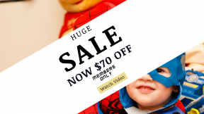 FullHD image template for sales - #banner #businnes #sales #CallToAction #salesbanner #spider #credit #mask #man #caucasian #kids