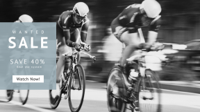FullHD image template for sales - #banner #businnes #sales #CallToAction #salesbanner #white #road #sport #cyclist #cycle #bicycle #cycling #b/w #bike #black