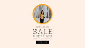 FullHD image template for sales - #banner #businnes #sales #CallToAction #salesbanner #backpack #outdoors #structure #happy #education #joy #walk #fashion #woman