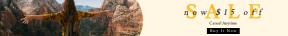 Leaderboard web banner template for sales - #banner #businnes #sales #CallToAction #salesbanner #business #female #desert #backpack #deserted #yellow #caucasian #landscape