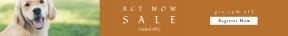 Leaderboard web banner template for sales - #banner #businnes #sales #CallToAction #salesbanner #black #franklin #dog #box #rectangle #grass
