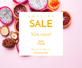Square large web banner template for sales - #banner #businnes #sales #CallToAction #salesbanner #grapefruit #smoothie #superfood #color #recipe #topdown #dragon #vegan #bright #slize