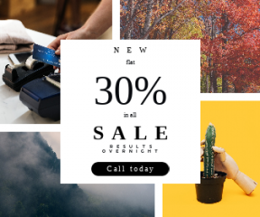 Square large web banner template for sales - #banner #businnes #sales #CallToAction #salesbanner #technology #business #hiking #potted #fashion