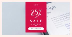 Card design template for sales - #banner #businnes #sales #CallToAction #salesbanner #shapes #web #communications #internet #font #office