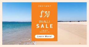 Card design template for sales - #banner #businnes #sales #CallToAction #salesbanner #vacation #sea #outdoors #nature #adventure #waves