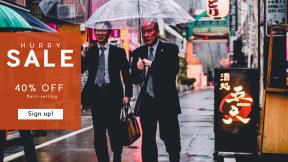 FullHD image template for sales - #banner #businnes #sales #CallToAction #salesbanner #businessmen #business #raining #wet #rain
