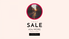 FullHD image template for sales - #banner #businnes #sales #CallToAction #salesbanner #city #black #sidewalk #interface #sunrise #shape #circular #track