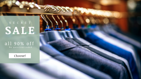 FullHD image template for sales - #banner #businnes #sales #CallToAction #salesbanner #rack #camera #formal #hangers #store #a