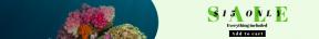Leaderboard web banner template for sales - #banner #businnes #sales #CallToAction #salesbanner #coral #underwater #reef #fish #ecosystem #organism #stony #wallpaper #computer #marine