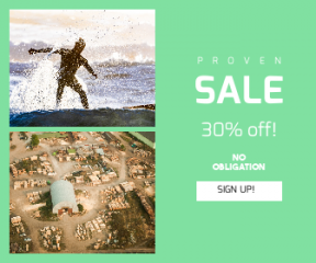 Square large web banner template for sales - #banner #businnes #sales #CallToAction #salesbanner #top #timber #work #guy #aerial #warehouse #sea #silhouette #hangar #forest