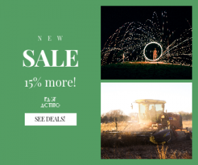 Square large web banner template for sales - #banner #businnes #sales #CallToAction #salesbanner #play #artist #circle #sunlight #machinery #fall #farm