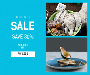 Square large web banner template for sales - #banner #businnes #sales #CallToAction #salesbanner #ingredient #container #fresh #cutlery #bowl #haggle