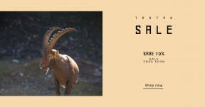 Card design template for sales - #banner #businnes #sales #CallToAction #salesbanner #bokeh #goat #bam #ibex #blur #wildlife
