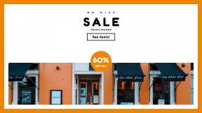 FullHD image template for sales - #banner #businnes #sales #CallToAction #salesbanner #door #orange #welcoming #menu #restaurant #text