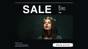 FullHD image template for sales - #banner #businnes #sales #CallToAction #salesbanner #flower #green #woman #conference #model #square #crown #lipstick #lady