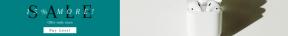 Leaderboard web banner template for sales - #banner #businnes #sales #CallToAction #salesbanner #earphone #white #charger #pod #apple #power #speaker #headphone #shadow #siri