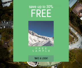 Square large web banner template for sales - #banner #businnes #sales #CallToAction #salesbanner #apartment #adventure #hiker #singapore #climbing #mountain #travel