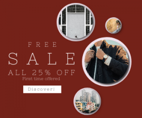 Square large web banner template for sales - #banner #businnes #sales #CallToAction #salesbanner #center #alley #wall #raod #skyscraper #jewellery #street #jewelry