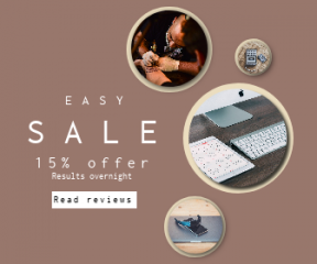 Square large web banner template for sales - #banner #businnes #sales #CallToAction #salesbanner #imac #needle #device #an #flooring #design #wood