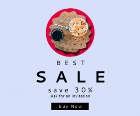 Square large web banner template for sales - #banner #businnes #sales #CallToAction #salesbanner #border #frame #rough #squares #food