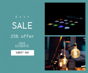 Square large web banner template for sales - #banner #businnes #sales #CallToAction #salesbanner #apps #mobile #inspiration #hanging #photography
