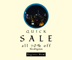 Square large web banner template for sales - #banner #businnes #sales #CallToAction #salesbanner #chrysler #park #night #buildings #skyscraper #building #city #the #of