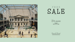 FullHD image template for sales - #banner #businnes #sales #CallToAction #salesbanner #mall #daytime #building #glass #city #walking #Museum #with #interior