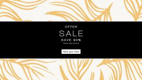 FullHD image template for sales - #banner #businnes #sales #CallToAction #salesbanner #white #leaf #wallpaper #pattern #line