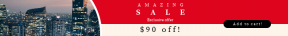 Leaderboard web banner template for sales - #banner #businnes #sales #CallToAction #salesbanner #circular #cityshot #geometric #shape #thailand