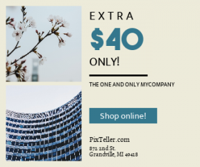 Square large web banner template for sales - #banner #businnes #sales #CallToAction #salesbanner #daytime #beauty #commercial #blossom #tree