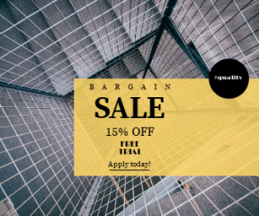 Square large web banner template for sales - #banner #businnes #sales #CallToAction #salesbanner #fencing #covering #corporate #steel #wallpaper #down