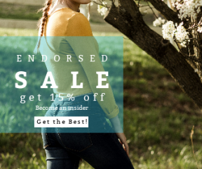 Square large web banner template for sales - #banner #businnes #sales #CallToAction #salesbanner #spring #female #living #winter #braid #leafe #flower #business #pigtails