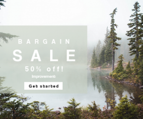 Square large web banner template for sales - #banner #businnes #sales #CallToAction #salesbanner #water #outdoor #tree #woodland #forest