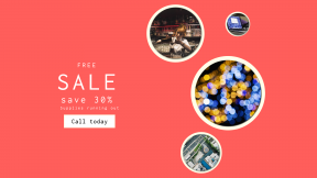 FullHD image template for sales - #banner #businnes #sales #CallToAction #salesbanner #computer #bokeh #redhead #like #barmaid #estate