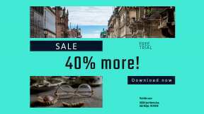 FullHD image template for sales - #banner #businnes #sales #CallToAction #salesbanner #geometry #street #fake #architecture #glasses