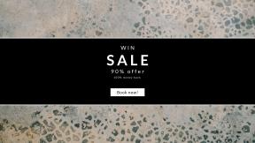 FullHD image template for sales - #banner #businnes #sales #CallToAction #salesbanner #granite #texture #pattern