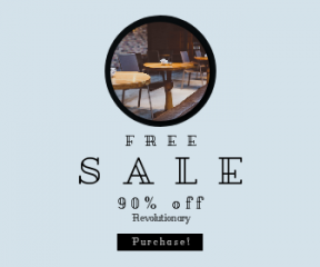 Square large web banner template for sales - #banner #businnes #sales #CallToAction #salesbanner #furniture #wood #symmetry #drink #table #bokeh #tabletop #restaurant #cafe #food